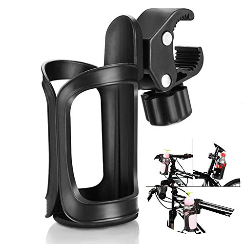 QNFY Bike Bottle Holder, 360 Degrees Rotation Water Bottle Cage Sports Drink Bottle Holder Bicycle Cup Holder for Bicycles, Mountain Bikes, Prams, Rollator and Wheelchair