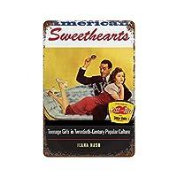 AMERICANSWEETHEAITLセクシーな女の子さびた錫のサインヴィンテージアルミニウムプラークアートポスター装飾面白い鉄の絵の個性安全標識警告バースクールカフェガレージの寝室に適しています