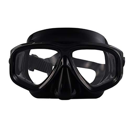 ShuoBeiter Tauchermaske kurzsichtig Diving Tauch Schnorchel Maske NEARSIGHTED Verschreibung RX Sehstärke (Schwarz, -5.0)
