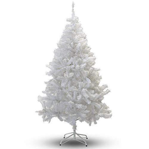 VINGO Weihnachtsbaum 180 cm ca. 650 Weiß PVC Künstlicher Weihnachtsbäume Mit Kunststoff Ständer Dekobaum Kunststoff Nadeln Weihnachtsdekoration Baum