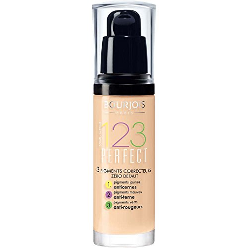 Bourjois 123 Perfect Base de Maquillaje Tono 52 Vanilla, 30 gr.