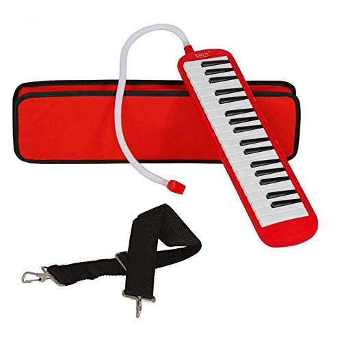 Lowest Price! Colorful 32/37 Piano Style Keys Melodica With Hard Storage Case Children Students Musical Instrument Harmonica Mouth Organ Gift for Children, Red,37 key
