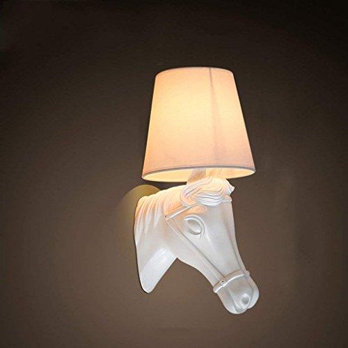 DSJ Nordic Horse Head wandlamp persoonlijkheid creatieve woonkamer restaurant slaapkamer gang dier wandlamp BAI