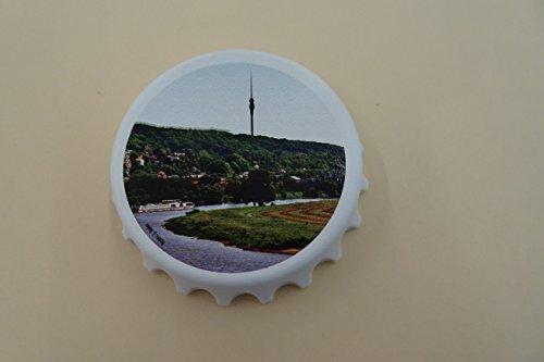 Kapselheber Cap, bedruckt mit Dresdenmotiv Fernehturm Wachwitz