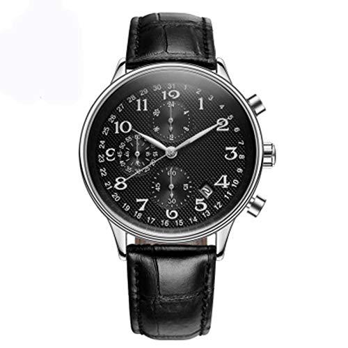 ZTT Top Luxusmarken-Mann-Geschäft Rose Uhren Chronograph Wasserdicht Quarz-Analoge Armbanduhr Male Uhr,A