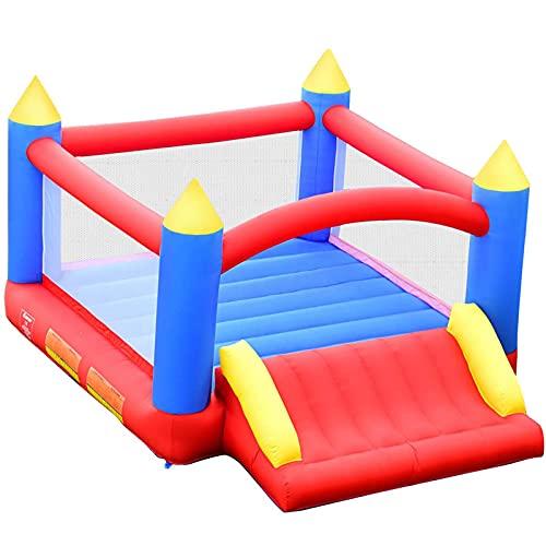 FYHpet Castillo Hinchable para Niños Parque Infantil 3x2x2m Centro de Actividades para Niños para Patio Jardín Interior y Exterior Sin Soplador