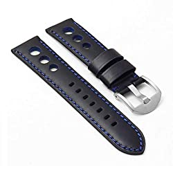 DASSARI M5 Leather Rally Racing Watch Band Strap - Choose Your Color - 18mm 20mm 22mm 24mm 26mm