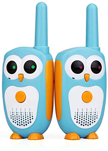 Retevis RT30 Kids Walkie Talkies Owl Toys Easy Walkie Talkies for Kids Boys and Girls Gifts(Blue,1 Pair)