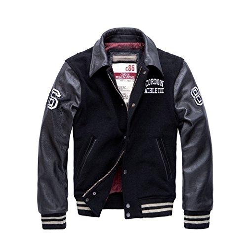 Cordon Sport Berlin Lederjacke Bronx, Farbe:black;Größe:L