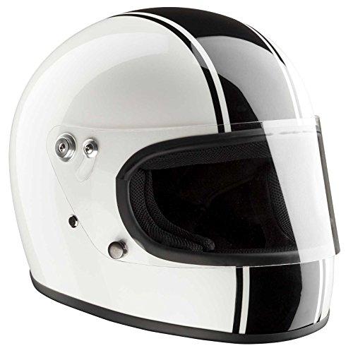 Bandit Helmets Integral ECE 22-05 homologierter Motorradhelm mit Baumwoll-Innenfutter und guter Passform, Größe:L(59-60cm)