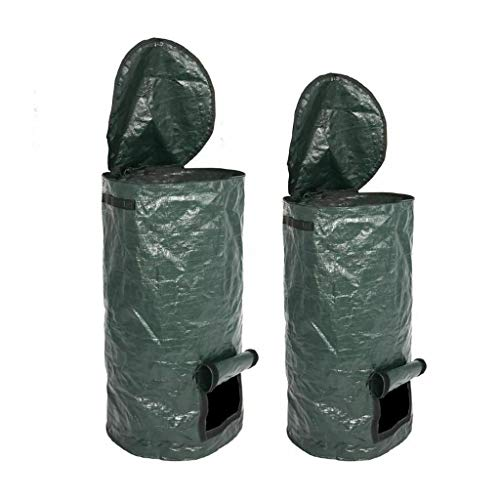 Great Deal! 2 Pcs Organic Waste Kitchen Garden Yard Compost Bag Environmental PE Cloth Planter Kitch...