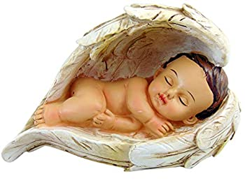 Christian Brands Sleeping Baby in Angel Wings Figurine Statue 7 1/2 Inches Long