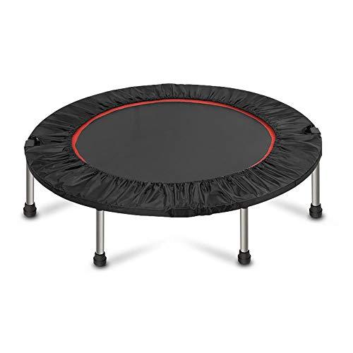 WiaLx Mini-Trampolin Set Aktiv Faltbare Kinder Kinder Junior Fitness-Übungs-Bouncer Indoor Rebounder (Color : Black, Size : 40 inches)