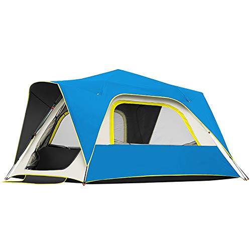 ZXD Tienda de Campaña Familiar 4/6/8 Personas, Carpa Grande Acampada Tipo Refugio, Tiendas Anti UV, para Camping Playa Jardín Familiares Outdoor,Azul,3 4 People
