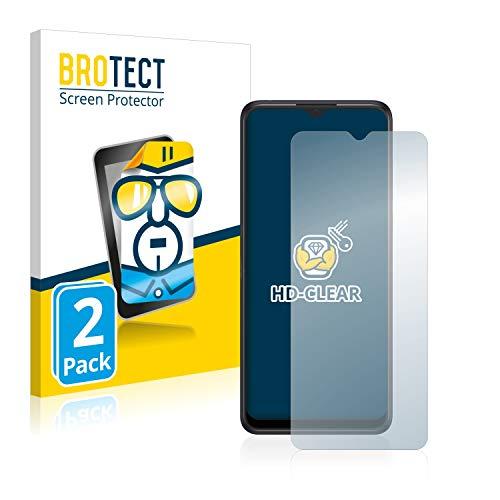 BROTECT Schutzfolie kompatibel mit Alcatel 3X 2019 (2 Stück) klare Bildschirmschutz-Folie