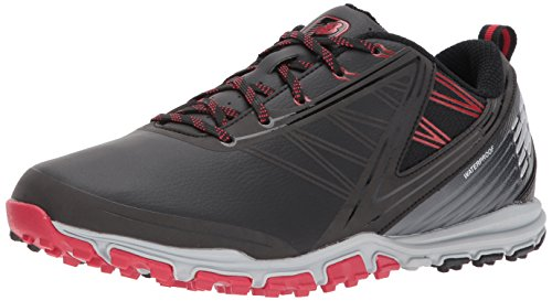 New Balance Men's Minimus SL Waterproof Spikeless Comfort Golf Shoe, 7 D D US, black/red