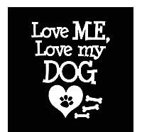 ステッカー車用 13.1X16.3Cm Love My Love Mydogビニールデカール犬の車のステッカーウィンドウの装飾黒/シルバー