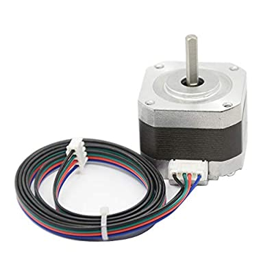 Iverntech Nema 17 Stepper Motor 42x34mm Body 1.8 Stepper Angle 1.5A 2 Phase 4-Lead with 1M Cable for 3D Printer, CNC Machine and Robotics