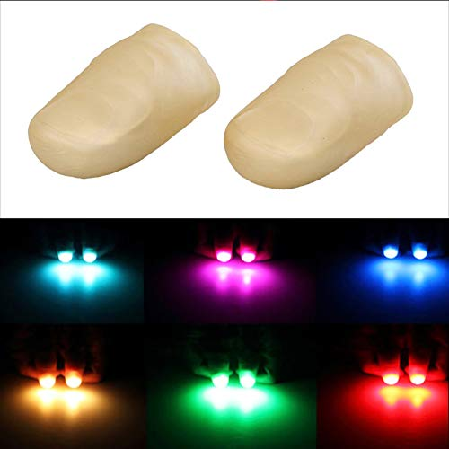 5 Pairs LED Finger Lamp Thumbs Light Finger Thumb Tips Light Up Lamp Magic Tricks Prop Fake Finger,Prank Tool Glow Toy for Party Bar Show Perform Halloween Random Color