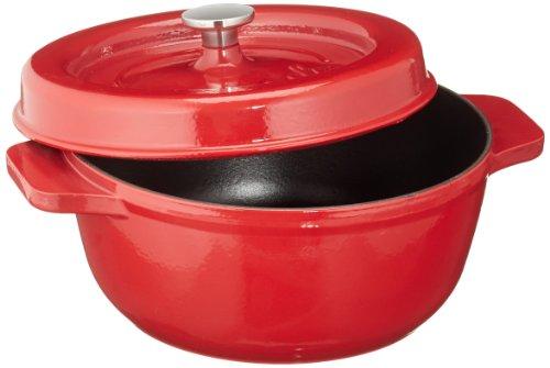 Fissler arcana / Gusseisen-Bräter ( 3,0l - Ø 23 cm) runder-Bratentopf, emailliert, Schmortopf mit Deckel - alle Herdarten auch Induktion, rot