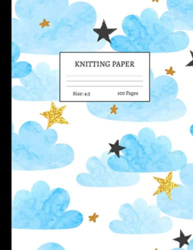 Knitting Paper: Graph Notebook and Journal for Patterns | 4:5 Ratio | 100 pages | Letter Format 8.5