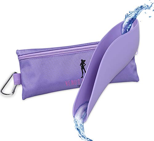 Venus To Mars Female Urinal | Female Urination Device | Womens Pee Funnel for Camping - Car - Travel - Festivals - Porta Potty - Outdoor Activities (Purple)