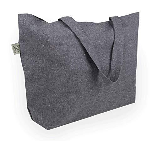 BagCouture - Bolsa de transporte muy grande - Bente - de algodón reciclado - con tela gruesa - muy resistente - 2 asas largas - Ideal como bolsa de la compra, bolso de baño, bolso de la compra