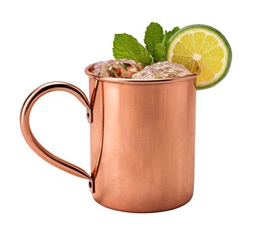 Kupfertasse 0,5 Liter - stilvolle Tasse zur Feuerzangenbowle oder zum Moskow Mule
