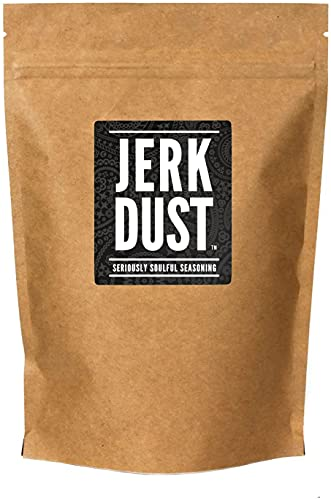 "Jerk Dust – Mezcla de especias jamaicanas Jerk & Condimento para barbacoa - ""Seriously Soulful Seasoning"" – Bolsa grande (225g)"