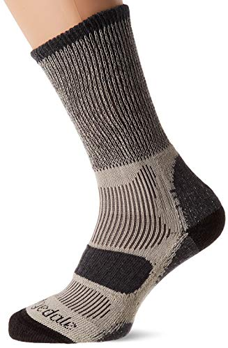 Bridgedale Hike LW Cotton Cool Comf. Boot Calcetines, Unisex Adulto, carbón, Talla Única