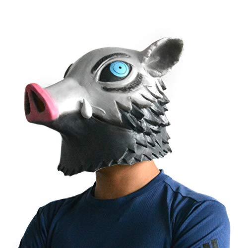 Hashibira Inosuke Máscara Máscara De Halloween Cosplay Del