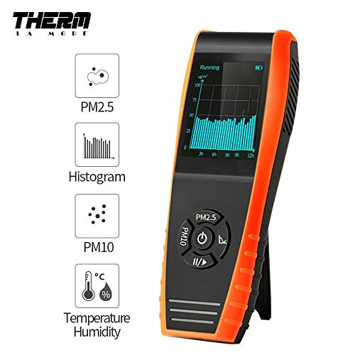 Luftqualität-Messgerät- Therm P-600 Luft Qualitäts Laser Paticle Detektor Berufsmeter genaue Prüfung für PM2.5/PM10 TFT Farb-LCD-Anzeige 【3 Jahr Garantie】