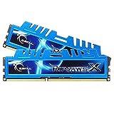 G.Skill Ripjaws X - Kit de Memoria RAM de 16 GB (2 x 8 GB DDR3 SDRAM, PC3-12800, 1600 MHz, 1.5 V), Azul