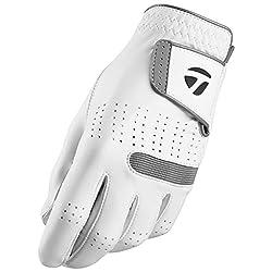 powerful TaylorMade Tour Preferred Flex Cadet Gloves (White, Medium / Large), White (Medium / Large, Wear …