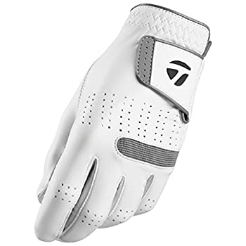 TaylorMade 2018 Tour Preferred Flex Glove  White Left Hand Large  White Large Worn on Left Hand