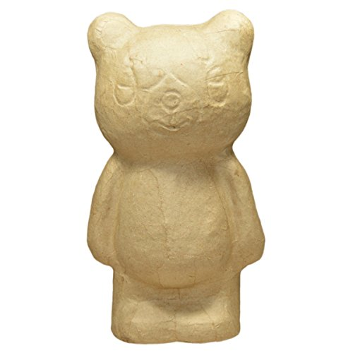 Spardose Karton Bär - blanko Sparbär aus Pappe natur zum Selbstgestalten, H 24cm