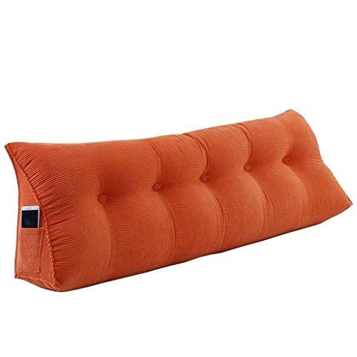 JKL J-Almohada Cojín Cama, Sofá Cama Tatami Doble de Largo Almohada de Cintura Posterior Almohadilla del Amortiguador de, por Sofá Cama (Color : Orange, Size : 100 * 25 * 50cm)