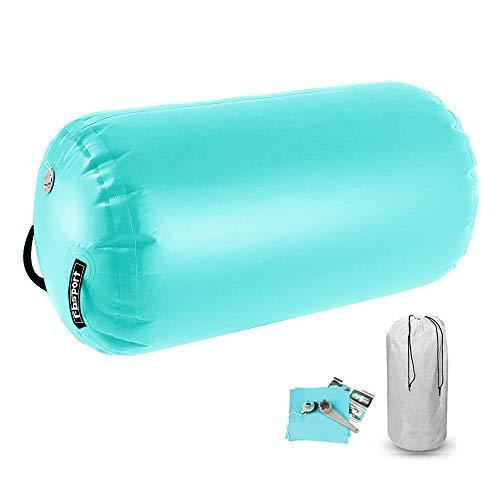 FBSPORT Aufblasbare Air Roll, 100 cm aufblasbare Luft Rollen, Yoga Gymnastic Zylinder, Gym Air Barrel, Airtrack Ãœbung Spalte