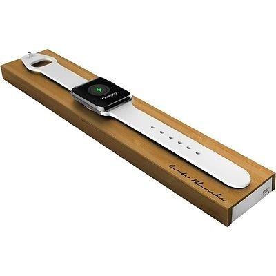 Boostcase Bloc-Docking station caricabatterie senza fili per Apple Watch con una batteria integrata, 2000 mAh, colore bamboo