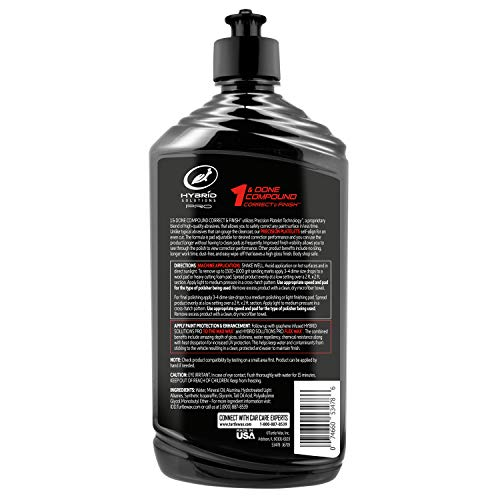 Turtle Wax 53478 Hybrid Solutions Pro 1 and Done Compound Correct and Finish, 16 oz.
