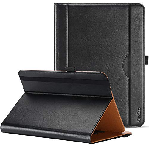 ProHülle Universal Hülle für Tablet bis 10.1 Zoll Hülle Verstellbar Cover 9 9.7 Zoll mit Multi Blickwinkeln Kartentasche, PU Lederständer Klapphülle für 9
