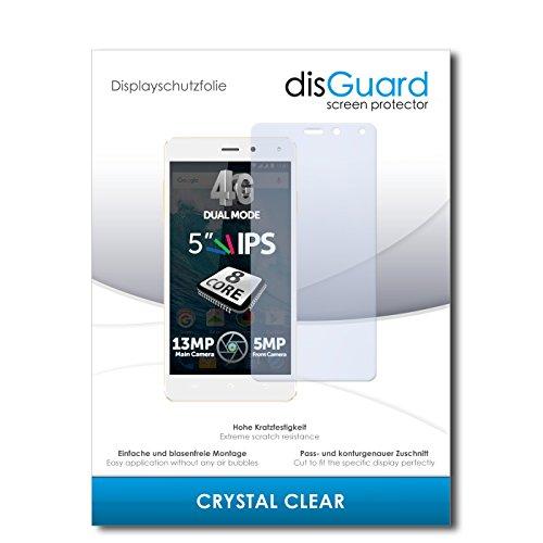 disGuard® Bildschirmschutzfolie [Crystal Clear] kompatibel mit Allview E4 [4 Stück] Kristallklar, Transparent, Unsichtbar, Extrem Kratzfest, Anti-Fingerabdruck - Panzerglas Folie, Schutzfolie