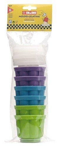 IBILI Gelatineformen-Set, Kunststoff, Mehrfarbig, Einzelpackung, 6-Einheiten