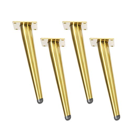 4 Pies para muebles Patas de muebles inclinables Patas de mesa patas de soporte de metal Patas de sofá Patas de gabinete,Apto para todo tipo de muebles de bricolaje,dorado(15cm)