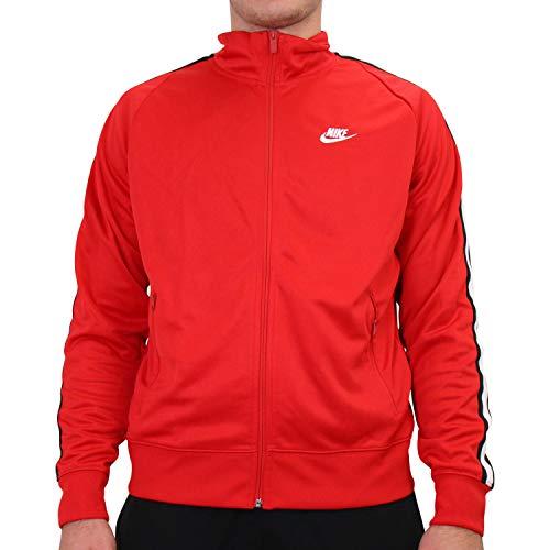 Nike Men's Sportswear Track Jacket (M, Red/blk)