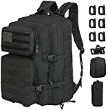 GZ XINXING 3 Day Assault Pack Military Tactical Army Molle Rucksack Backpack Bug Out Bag Hiking Daypack For Hunting Camping Hiking Traveling (Black1)