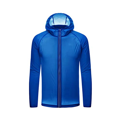 Chaqueta unisex de secado rápido de la piel súper fina protección solar impermeable Ciclismo Correr deportes con capucha chaqueta abrigo