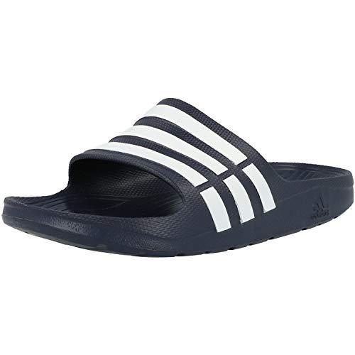 adidas Men's Duramo Slide Blue and White Flip-Flops and House Slippers - 9 UK/India (43.33 EU)