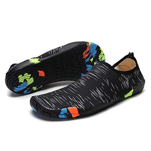 FBRR Zapatos de vadeo Aguas Arriba Calza Las Sandalias al Aire Libre par de Zapatos Zapatos de Nadar Yoga Pegatinas Zapatos de Piel (Color : Sapphire Blue, Size : 10/10.5 UK)