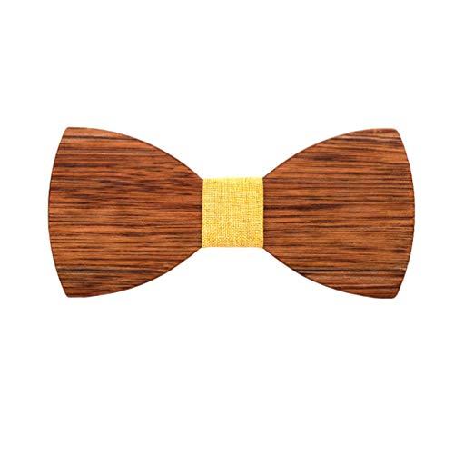Lvguang Uomo Accessori Moda Stile Tradizionale Design Classico Pratico Papillon in Legno (Style#2)